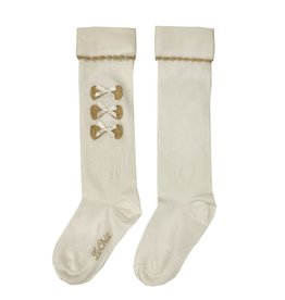 Le Chic Le Chic kneesocks with 3 bows C911-5905 Off White
