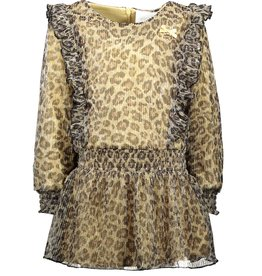 Le Chic Le Chic dress leopard pleated glitter C911-5815 Fields of Gold