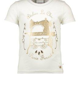 Le Chic Le Chic T-shirt 'Atelier Le Chic' C911-5476 Off White