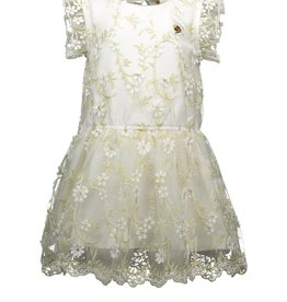 Le Chic Le Chic dress embr. golden leaves C911-7810 Off White