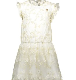 Le Chic Le Chic dress embr. golden leaves C911-5810 Off White