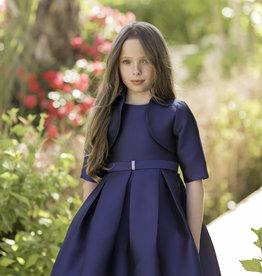 Mimilu Mimilu jurk mouwloos donkerblauw met strik op de rug