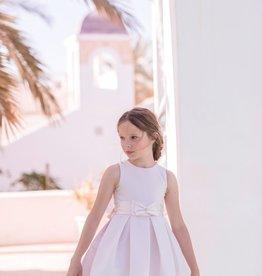 Mimilu Mimilu jurk roze met strik