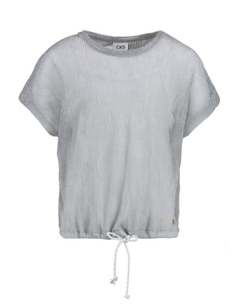 CKS CKS  Shirt zilver met los wit topje