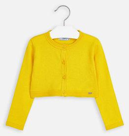 Mayoral Mayoral Basic knitted cardigan Yellow - 00321