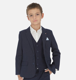 Mayoral Mayoral Printed linen blazer Navy - 06440
