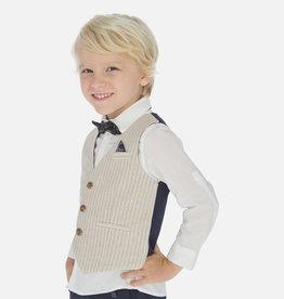 Mayoral Mayoral Tailored linen vest Parchment - 03438