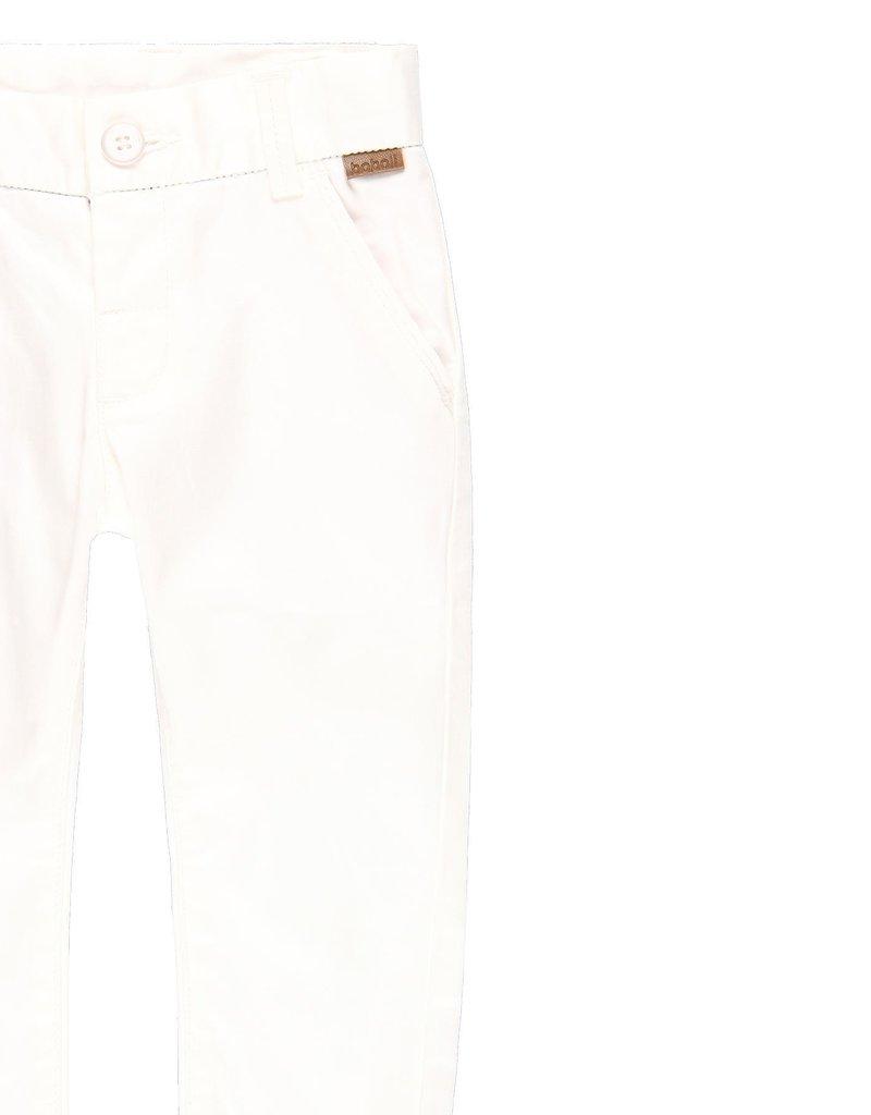 Boboli Boboli Stretch satin trousers for baby boy WHITE 719029
