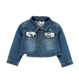 Boboli Boboli Denim jacket stretch for baby girl BLUE 209056