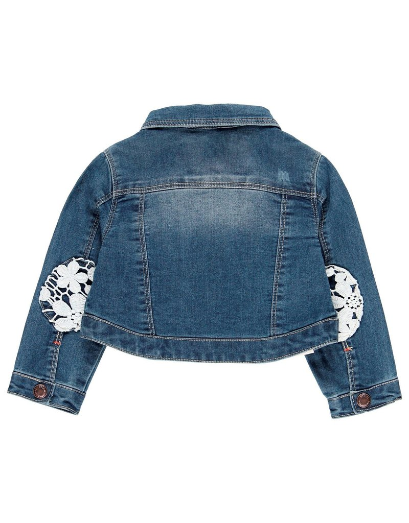 Boboli Boboli Denim jacket stretch for baby girl BLUE 209056