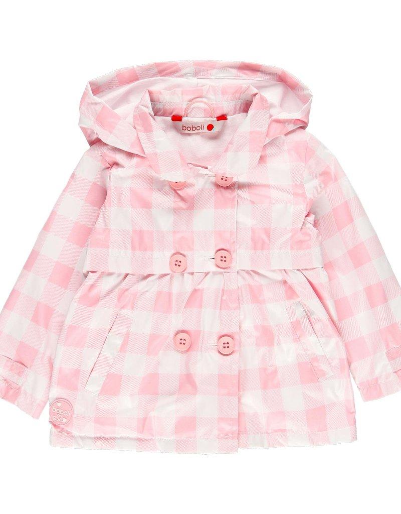Boboli Boboli Technical fabric parka for baby girl checks 229148