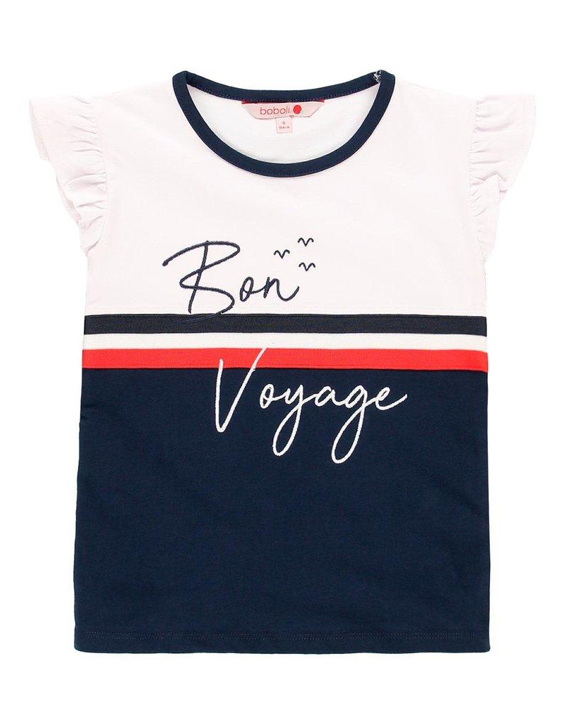Boboli Boboli Stretch knit t-Shirt for girl NAVY 459019