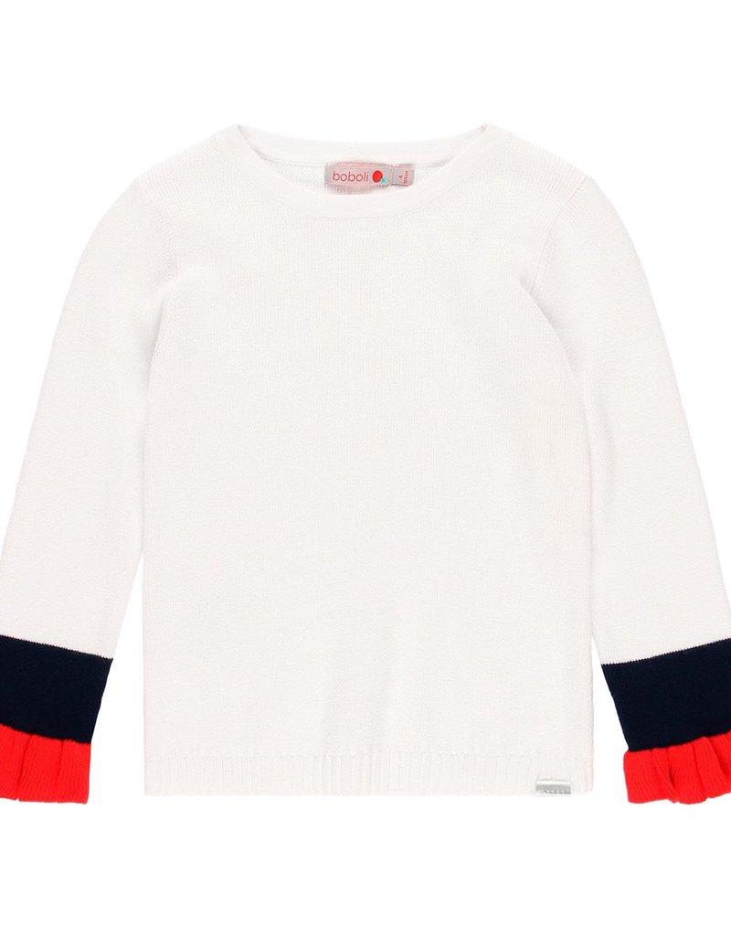 Boboli Boboli Knitwear pullover for girl WHITE 459255