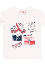 Boboli Boboli Stretch knit t-Shirt for girl WHITE 459277