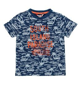 Boboli Boboli Knit t-Shirt flame for boy print 519049