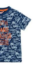 Boboli Boboli Knit t-Shirt flame for boy print 519049
