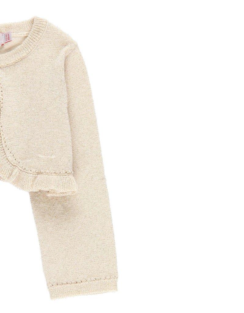 Boboli Boboli Knitwear bolero for baby girl SAND 709073