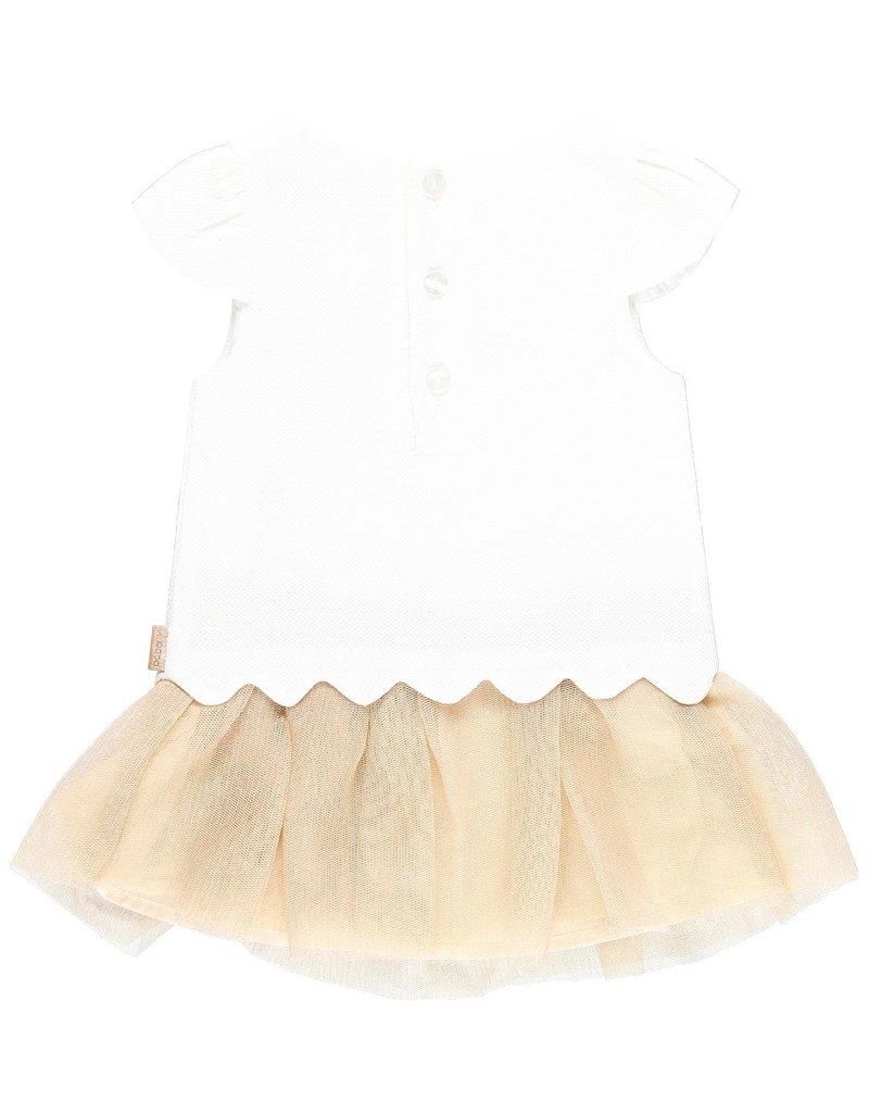 Boboli Boboli Dress for baby girl white 709253