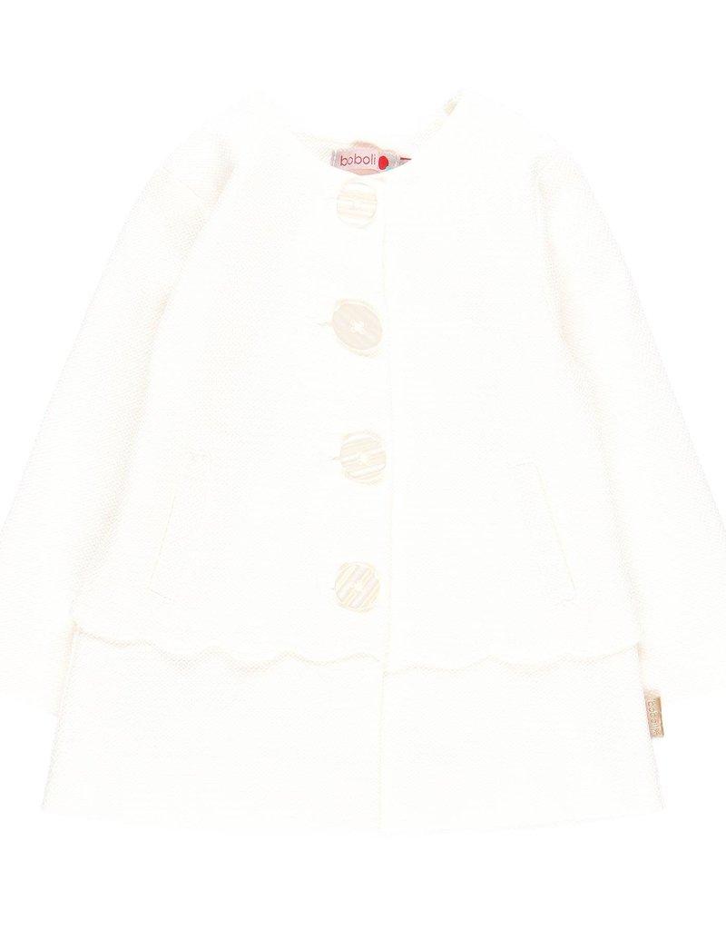 Boboli Boboli Coat for baby girl white 709264