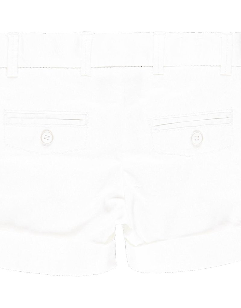 Boboli Boboli Satin bermuda shorts stretch for baby boy WHITE 719052