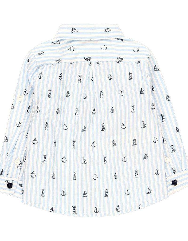 Boboli Boboli Poplin shirt for baby boy print 719175