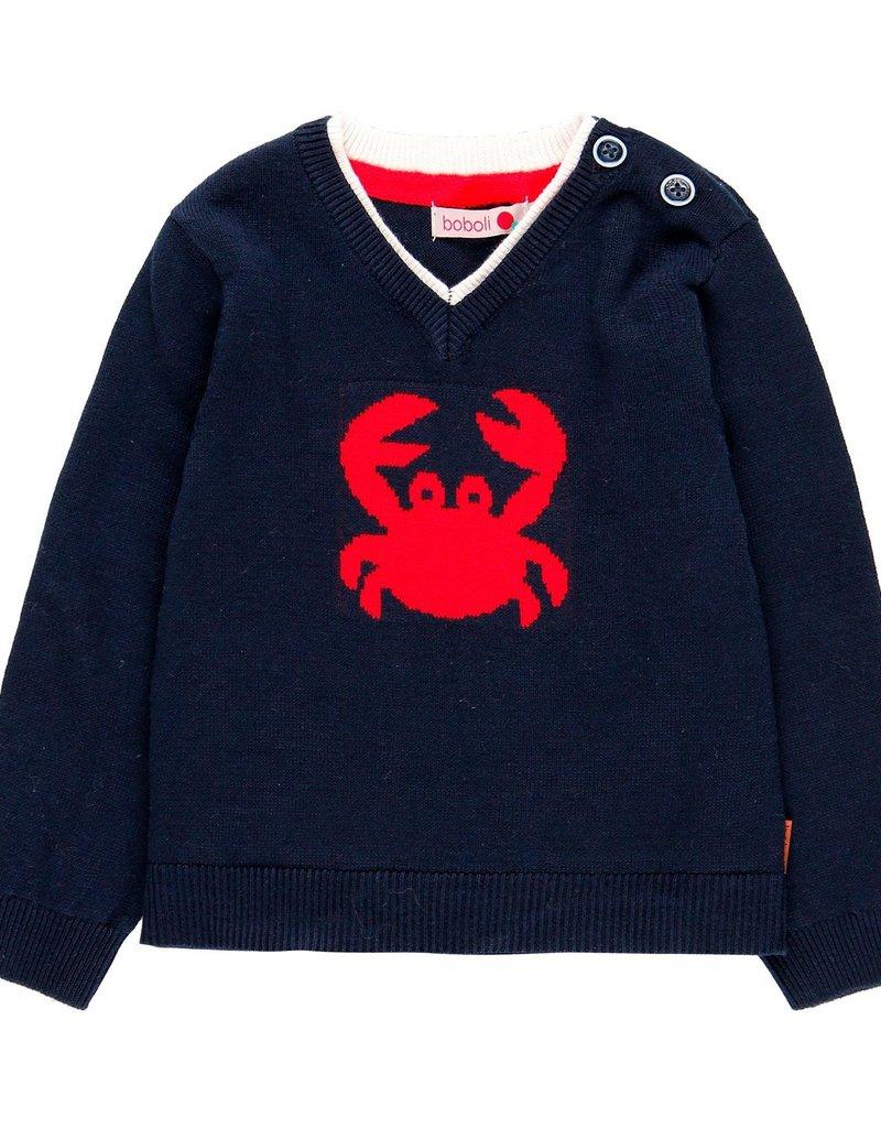 Boboli Boboli Knitwear pullover for baby boy NAVY 719276