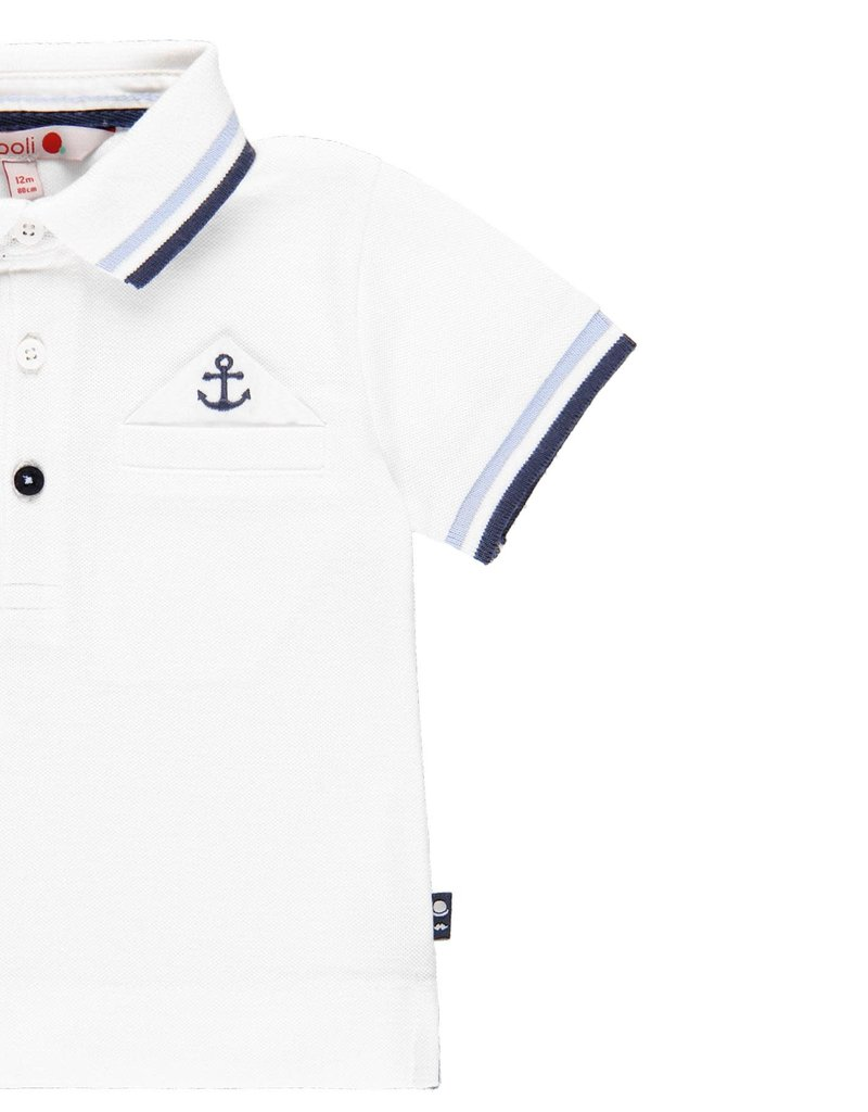 Boboli Boboli Pique polo for baby boy WHITE 719322