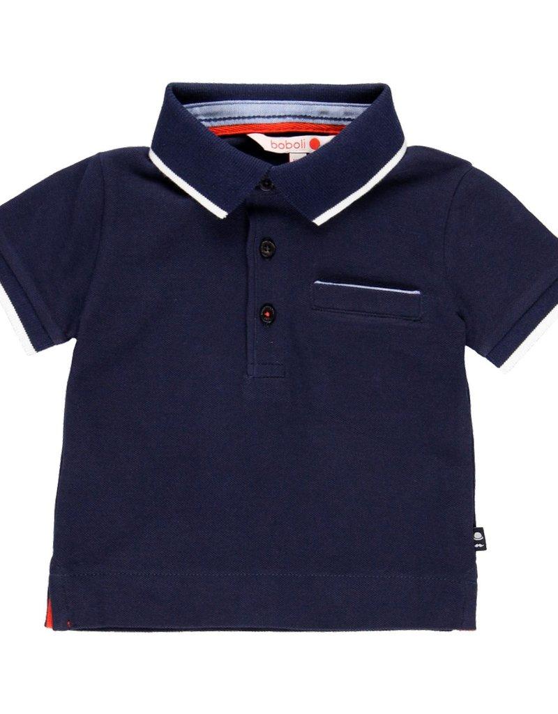Boboli Boboli Pique polo for baby boy NAVY 719322