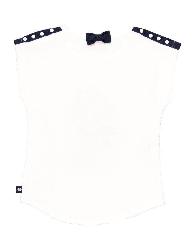 Boboli Boboli Stretch knit t-Shirt for girl WHITE 729053