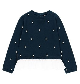 Boboli Boboli Knitwear combined pullover for girl NAVY 729097
