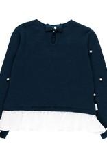Boboli Boboli Knitwear combined pullover for girl NAVY 729097