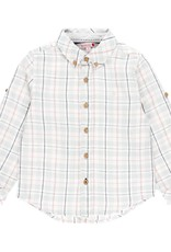 Boboli Boboli Linen shirt long sleeves for boy checks 739021