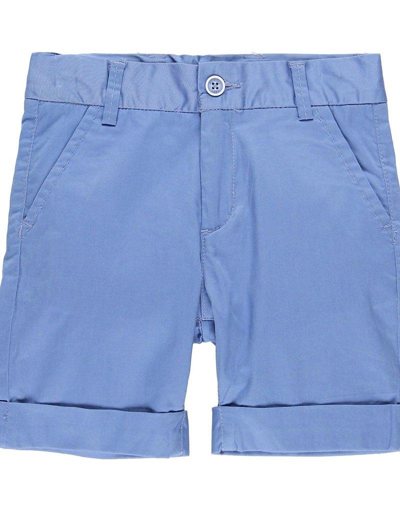 Boboli Boboli Satin bermuda shorts stretch for boy overseas blue 739098
