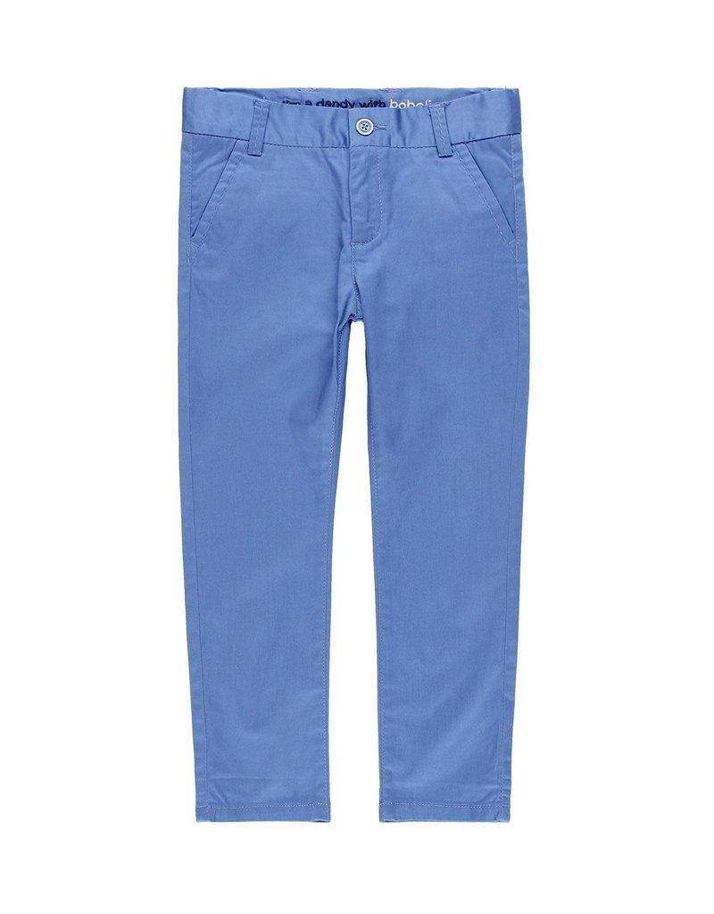Boboli Boboli Stretch satin trousers for boy overseas blue 739144