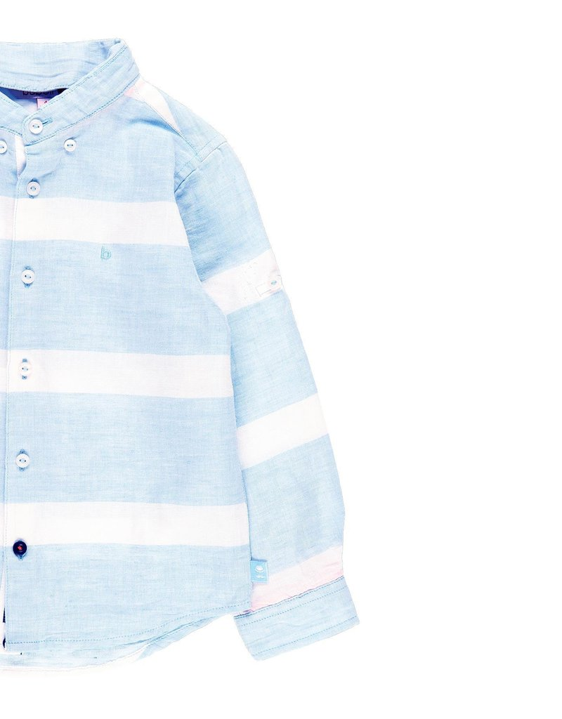 Boboli Boboli Linen shirt long sleeves for boy stripes 739256