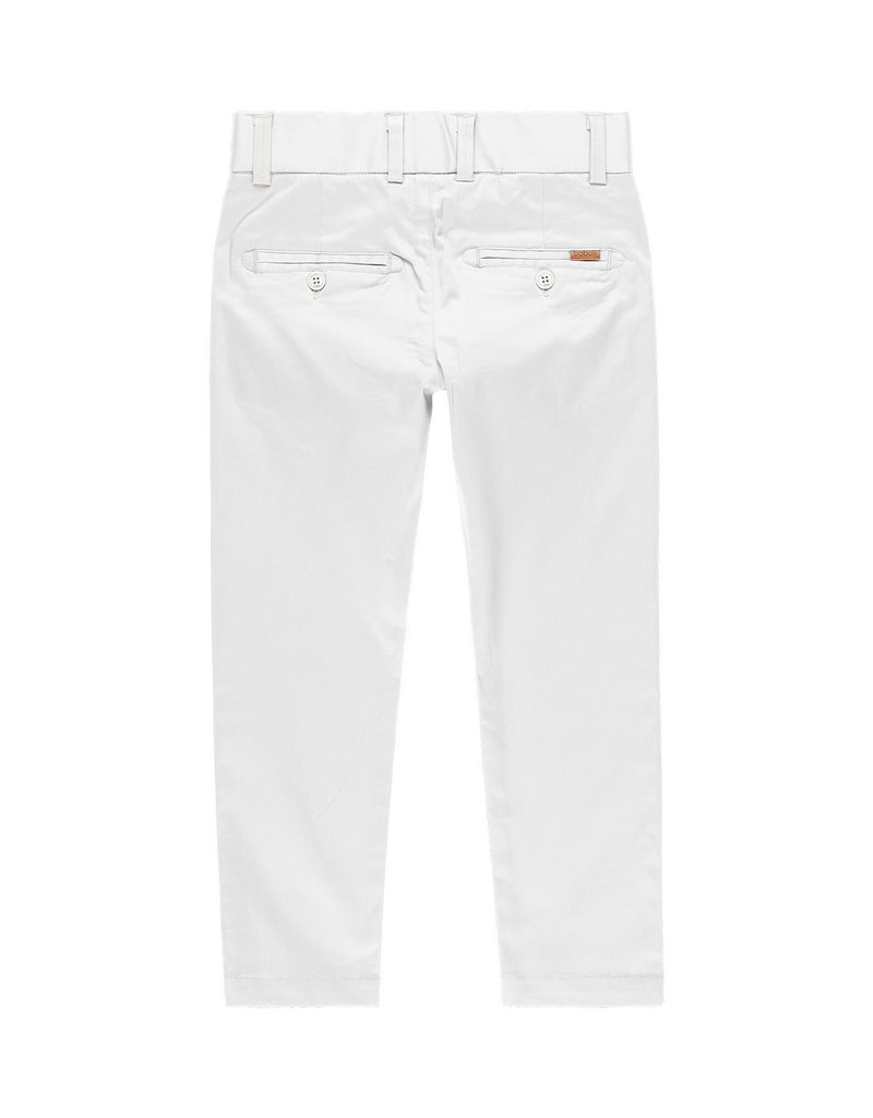 Boboli Boboli Stretch satin trousers for boy bone 739447