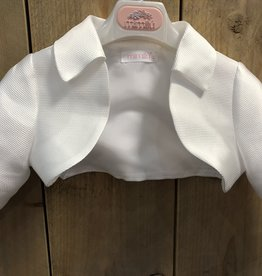 Mimilu Mimilu blazer of white met strik op de rug