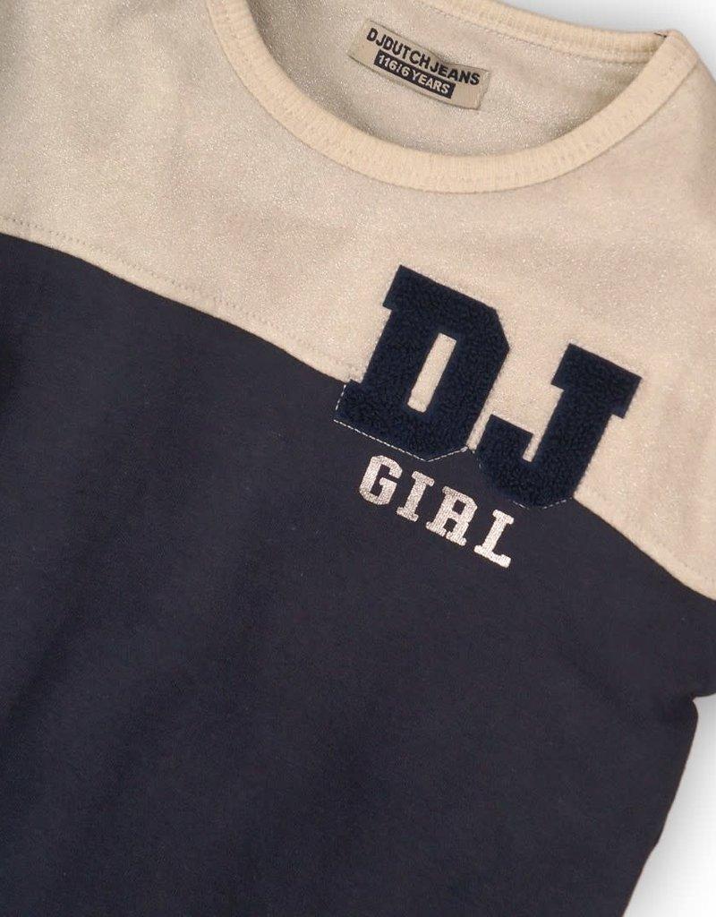 DJ DJ Dress Navy + off white + glitter - 45C-34031