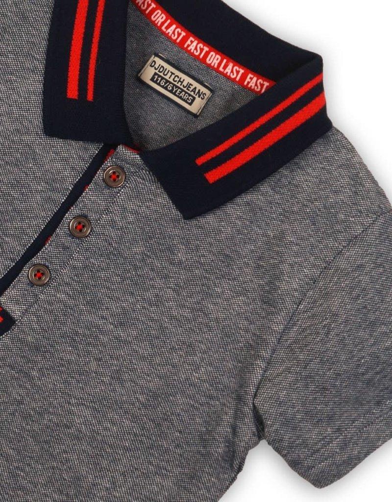 DJ DJ Polo shirt Navy melange - 45C-34103