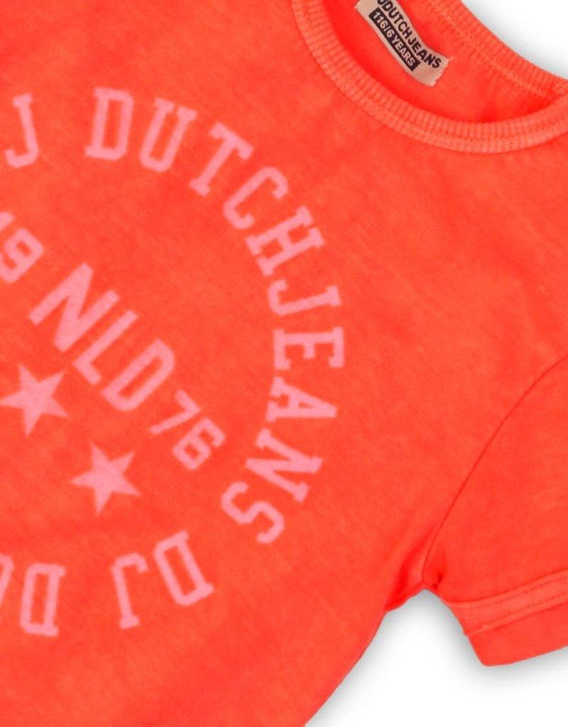 DJ DJ T-shirt Bright coral - 45C-34153