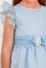 Abel & Lula Abel & Lula jurk lichtblauw met tuille wijde rok