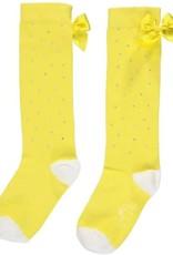 A'Dee A Dee Kniekousen geel met strikken