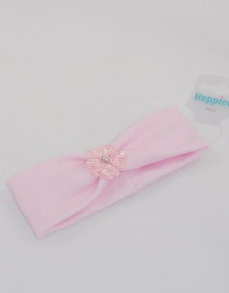 Heppidi Haarband baby roze met bloem