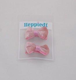 Heppiedi Heppiedi  knipjes roze met fluweel strikje