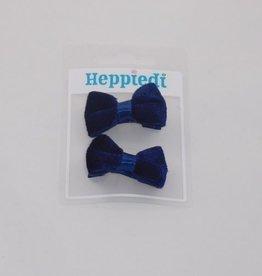 Heppiedi Heppiedi  knipjes donker blauw met fluweel strikje