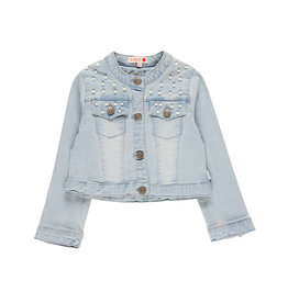 Boboli Boboli Denim jacket stretch for girl bleach 729503