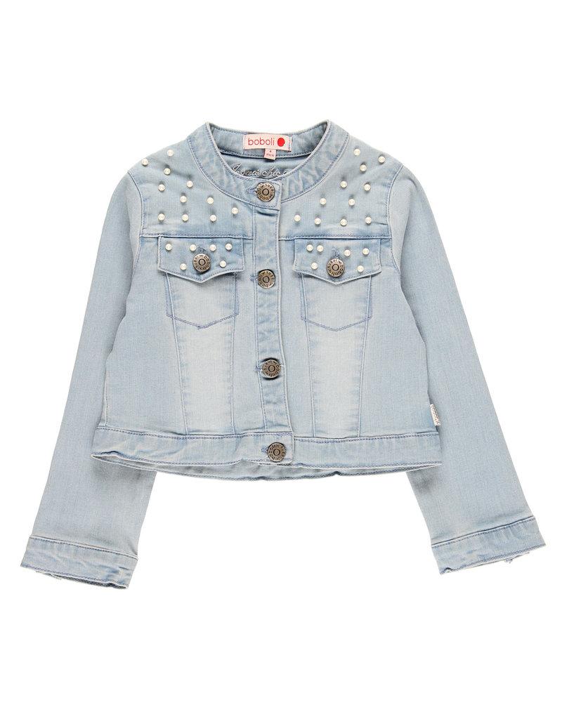 Boboli Boboli Denim jacket stretch for girl bleach 729503