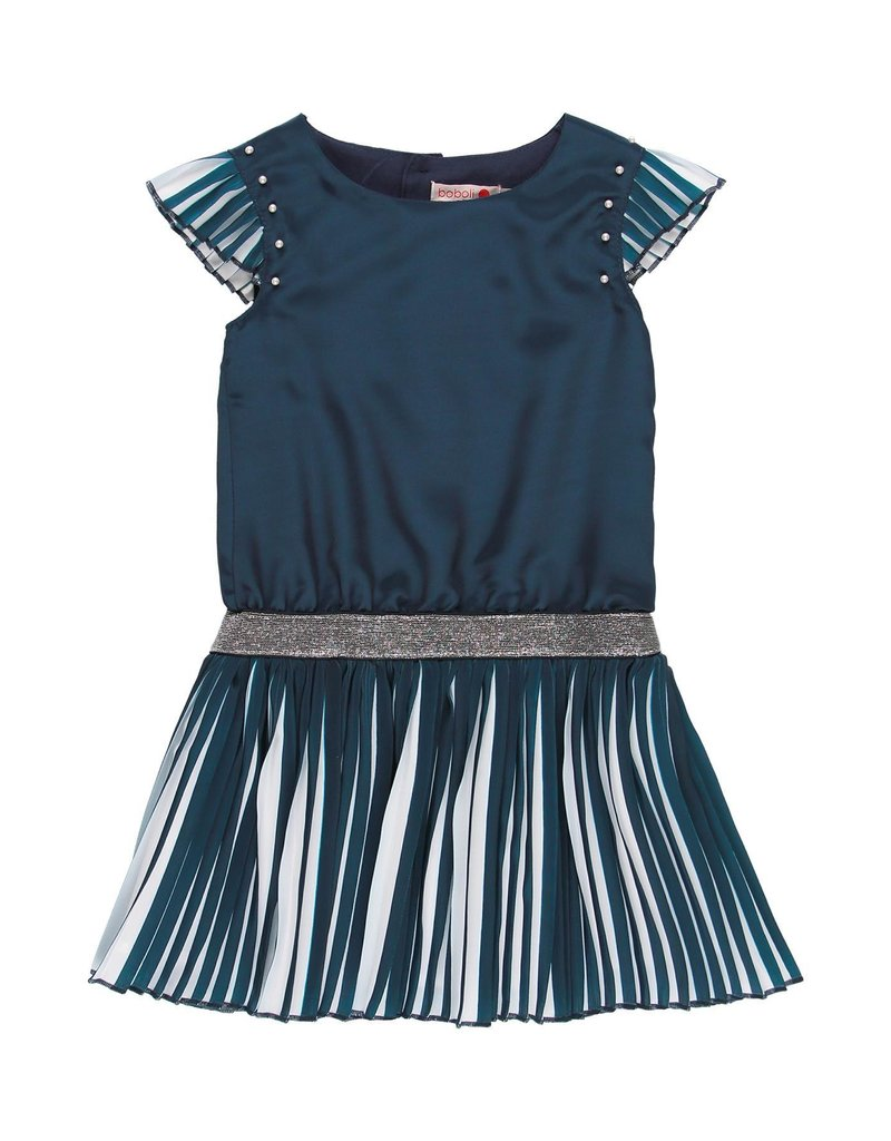 Boboli Boboli Chiffon dress for girl NAVY 729132