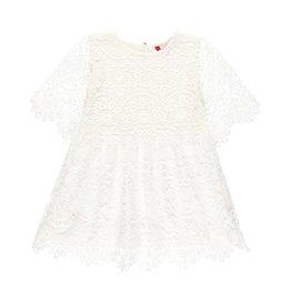 Boboli Boboli Guipure dress for girl white 729749
