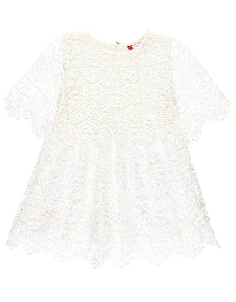 Boboli Boboli Guipure dress for girl white 729749